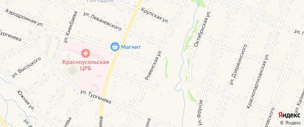 Ровенская улица на карте села Красноусольского с номерами домов