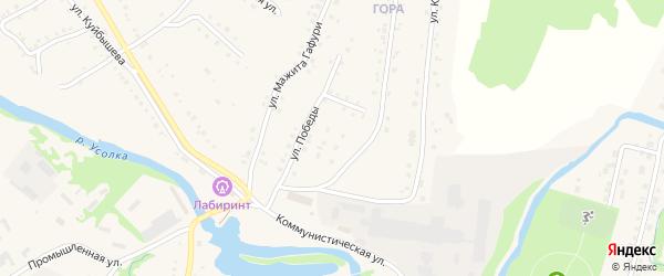 Переулок Победы на карте села Красноусольского с номерами домов