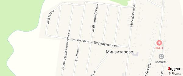 Улица 65-летия Победы на карте села Минзитарово с номерами домов
