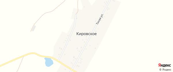 Овражная улица на карте деревни Кировского с номерами домов