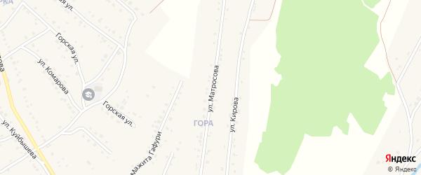 Улица Матросова на карте села Красноусольского с номерами домов