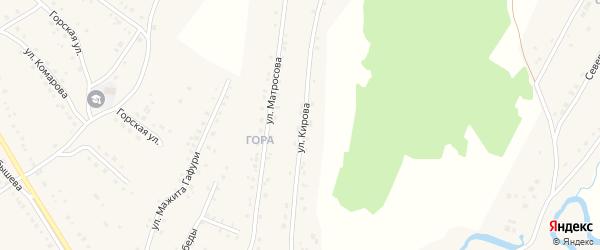 Улица Кирова на карте села Красноусольского с номерами домов