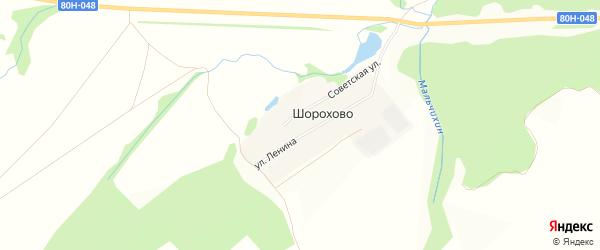 Карта деревни Шорохово в Башкортостане с улицами и номерами домов