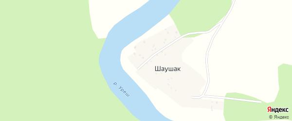 Центральная улица на карте деревни Шаушака с номерами домов
