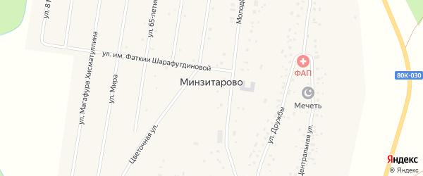 Улица им Зии Ильясова на карте села Минзитарово с номерами домов