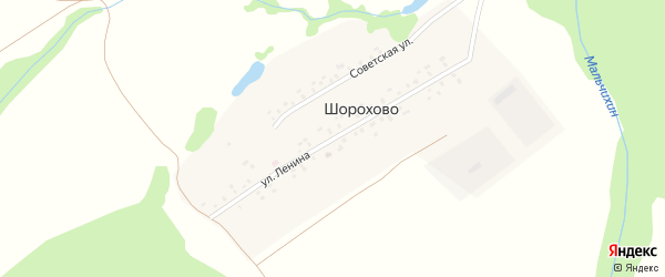 Улица Ленина на карте деревни Шорохово с номерами домов