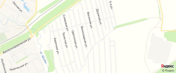 СНТ Родник на карте Иглинского района с номерами домов