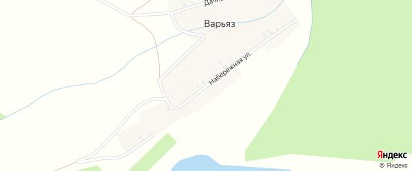 Дачная улица на карте деревни Варьяза с номерами домов