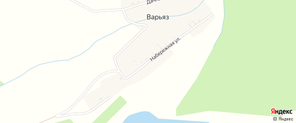 Набережная улица на карте деревни Варьяза с номерами домов