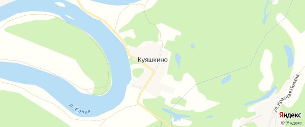 Карта деревни Куяшкино в Башкортостане с улицами и номерами домов