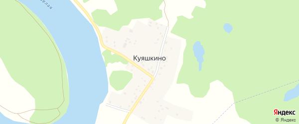 Улица Агидель на карте деревни Куяшкино с номерами домов