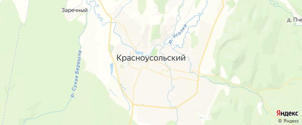 Карта Красноусольского сельсовета республики Башкортостан с районами, улицами и номерами домов