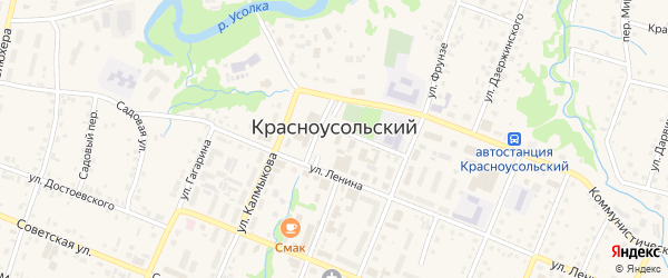 Весенняя улица на карте села Красноусольского с номерами домов