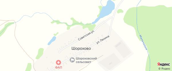 Советская улица на карте деревни Шорохово с номерами домов