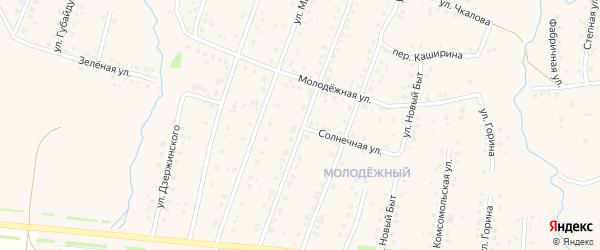 Солнечная улица на карте села Красноусольского с номерами домов