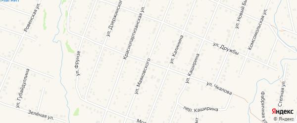 Улица Чкалова на карте села Красноусольского с номерами домов