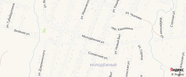 Молодежная улица на карте села Красноусольского с номерами домов