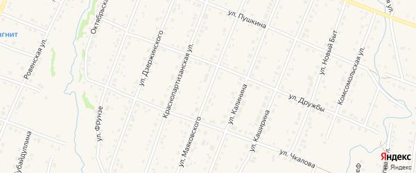 Улица Маяковского на карте села Красноусольского с номерами домов
