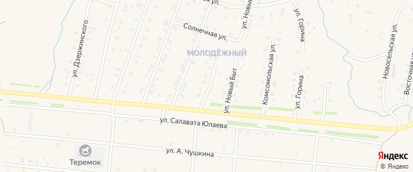 Переулок Новый Быт на карте села Красноусольского с номерами домов