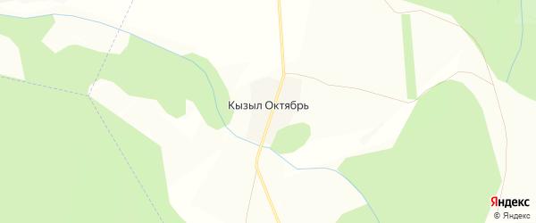 Карта деревни Кызыла Октября в Башкортостане с улицами и номерами домов