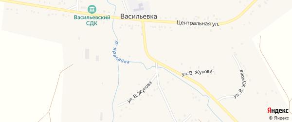 Улица Мира на карте села Васильевки с номерами домов