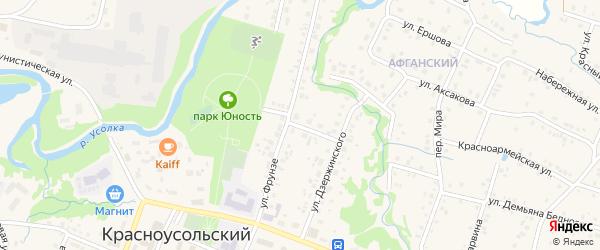 Улица Мичурина на карте села Красноусольского с номерами домов