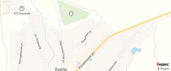 Озерная улица на карте села Бурлы с номерами домов