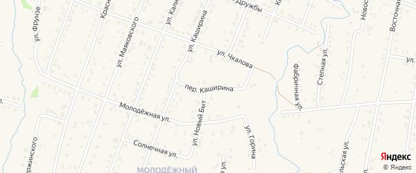 Переулок Каширина на карте села Красноусольского с номерами домов