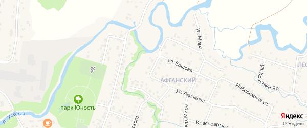 Усольская улица на карте села Красноусольского с номерами домов