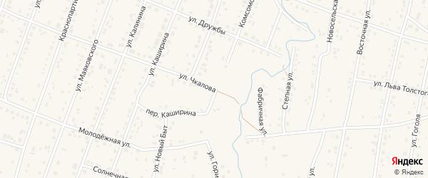 Комсомольская улица на карте села Красноусольского с номерами домов