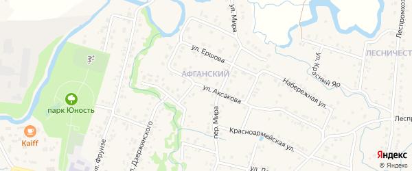 Улица Аксакова на карте села Красноусольского с номерами домов
