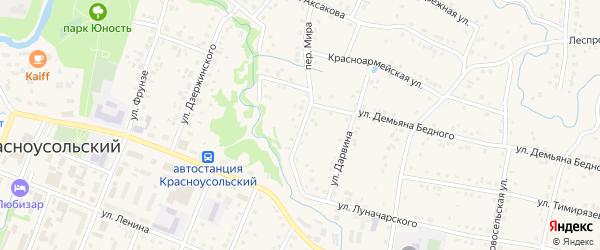 Тюлькасская улица на карте села Красноусольского с номерами домов