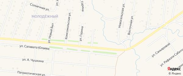 Петровская улица на карте села Красноусольского с номерами домов
