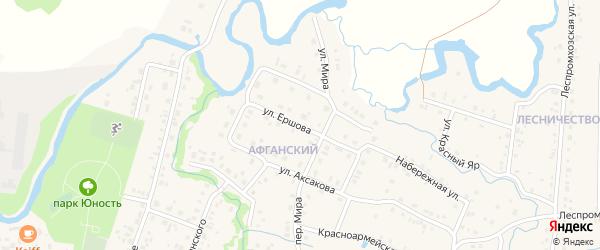 Улица Ершова на карте села Красноусольского с номерами домов
