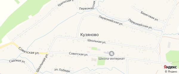 Первомайская улица на карте села Кузяново с номерами домов