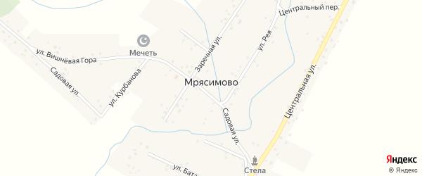 Заречный переулок на карте деревни Мрясимово с номерами домов