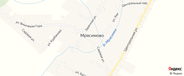 Улица Вишневая Гора на карте деревни Мрясимово с номерами домов