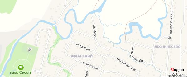 Российская улица на карте села Красноусольского с номерами домов