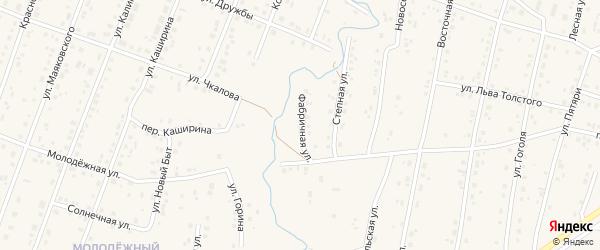 Фабричная улица на карте села Красноусольского с номерами домов