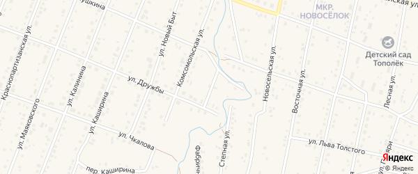 Переулок Дружбы на карте села Красноусольского с номерами домов