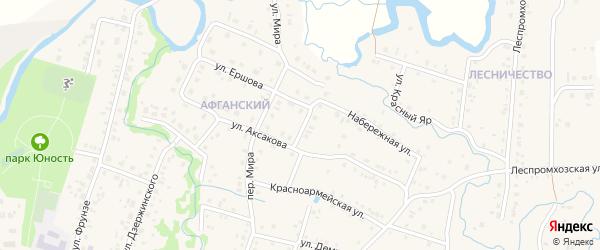 Озерная улица на карте села Красноусольского с номерами домов