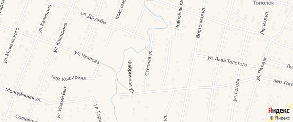 Степная улица на карте села Красноусольского с номерами домов