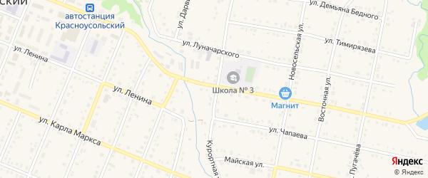 Курортная улица на карте села Красноусольского с номерами домов
