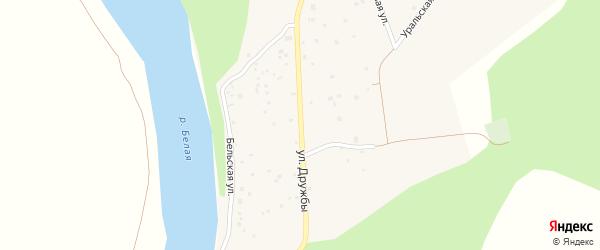Дачная улица на карте деревни Князево с номерами домов