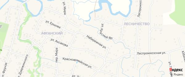 Набережная улица на карте села Красноусольского с номерами домов