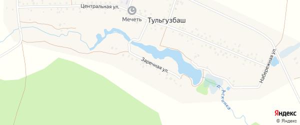 Заречная улица на карте деревни Тульгузбаша с номерами домов