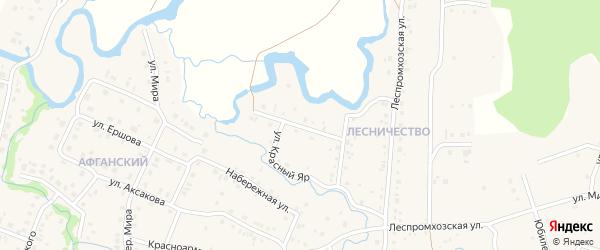 Улица Красный Яр на карте села Красноусольского с номерами домов