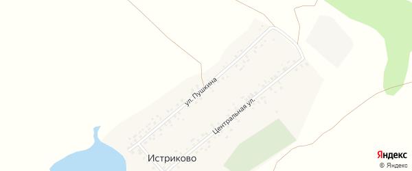 Улица Пушкина на карте деревни Истриково с номерами домов