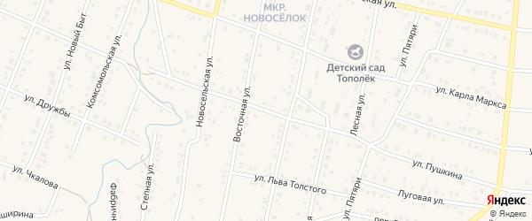 Улица А.Чушкина на карте села Красноусольского с номерами домов