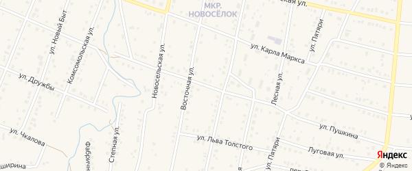 Улица Пушкина на карте села Красноусольского с номерами домов